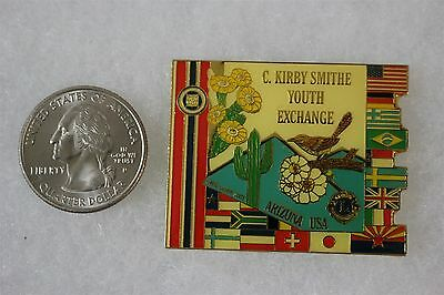 Lions Club Arizona Kirby Smithe Youth Exchange Pin Pinback #20024