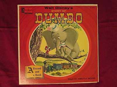 "1957 Disneyland Record ST-3904 ""Walt Disney's Dumbo"" Read-Along Book and LP"