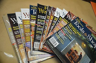 Fine Woodworking, 12 Issues, 2015/2016, Nos 244 To 255, Usa