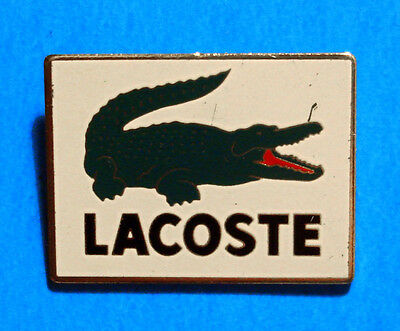 Lacoste - Crocodile - Vintage Clothing Advertising Lapel Pin - Hat Pin - Pinback
