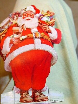 Antique cardboard lithograph SANTA  Emigrant IRISH  savings bank n y