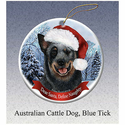 Australian Cattle Dog Howliday Porcelain China Dog Christmas Ornament