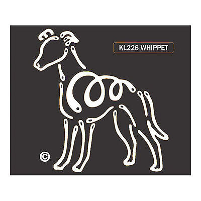 Whippet Dog K-Lines Dog Car Window Tattoo Decal Sticker