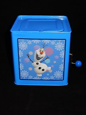 Gemmy Disney Frozen Olaf Jack-In-The-Box Musical Christmas Collectible RARE