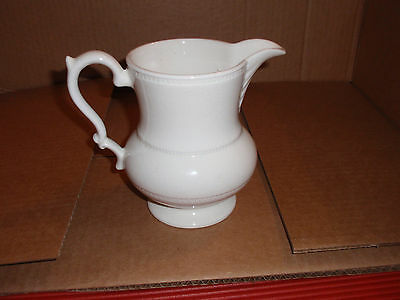 Vintage White Barrington Ironstone Pitcher, England 6 In.