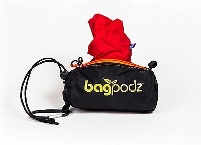 BagPodz - Reusable Grocery Bag and Storage System  Cayenne Red contains 5)