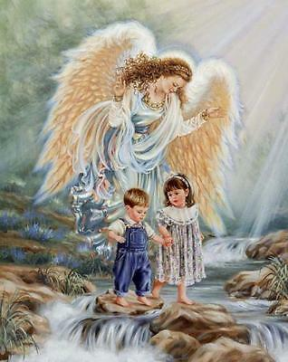 Cross Stitch Chart Pattern Your Guardian Angel Needlework Picture Design Craft