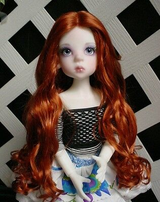 "DOLL Wig, Monique Gold ""Ginger"" Size 6/7 in Carrot Red"