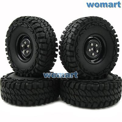 4pcs RC 1/10 115mm Tires & 1.9'' Hex 12mm Wheels For Rock Crawler Truck Upgrade