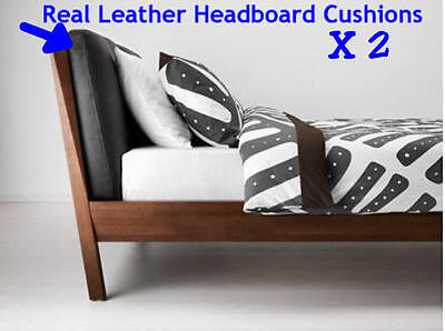 IKEA STOCKHOLM Brown Leather Headboard Cushions 70x72cm Brand New Sealed
