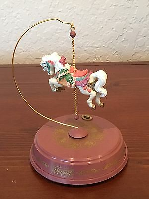 "Enesco Revolving Carousel Horse Music Box Plays ""Waltz Of The Flowers"" 1992 EUC!"