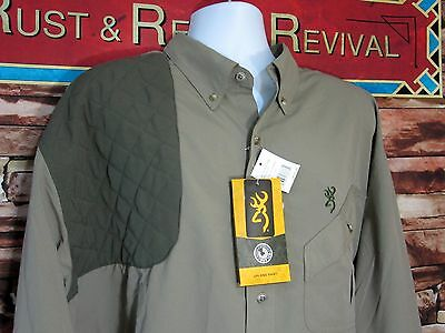 Browning Cross Country Shooting Shirt Chemise Upland SIZE 2XL 50 52 NEW