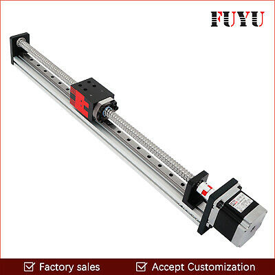 Free shipping 150mm stroke 40mm wide linear guide rail with motor and ball screw