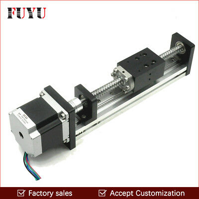 Free shipping 100mm stroke ball screw cnc linear rail guide for laser cutting