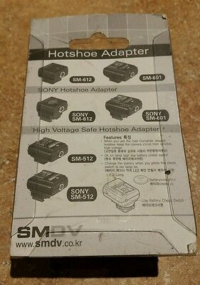 Hot Shoe to PC Sync Convert Adapter For SONY SM-612 SM-601 & SM-512.  NIP