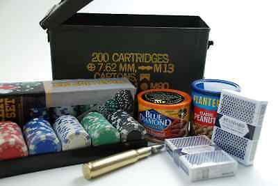 Poker Gift Basket in Army Ammo Box - Great Gift for Men