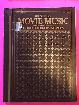 Movie Music Vol 5 Home Library Series Words/Chords/Music Tablature 69 Songs 1976