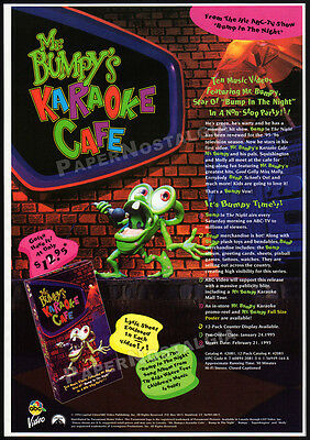 MR. BUMPY'S KARAOKE CAFE / Bump in the Night__Original 1995 Trade Print AD promo