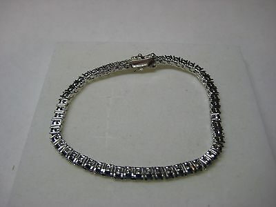 Tennis Bracelet 7.00ctw with Genuine Sapphire in .925 Sterling Silver