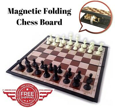Magnetic Folding Chessboard Chess Board Box Set Xmas Gift Kid Game Toy Puzzle AU