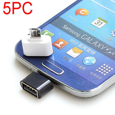 5pcs Micro USB to USB 2.0 OTG Cable Adapter for Android Samsung Tablet Converter