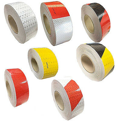 "2""x150' DOT-C2 Reflective Safety Warning Conspicuity Tape Honeycomb Sticker USA"