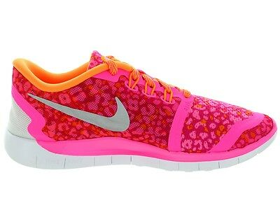 NIKE GIRLS FREE 5.0 Print Running Shoes 748870 600 Pink Youth SIZE 7Y Womens 8.5