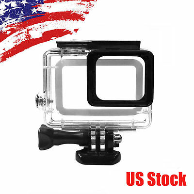 NEW 45m Underwater Waterproof Diving Housing Case Cover for Gopro Hero 5 USA OY