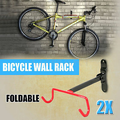 2x NEW Bicycle Storage Stands Steel Rack Wall Mounted Bike Hanger Hook Mount