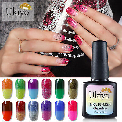 Ukiyo 10ml Thermal Color Change UV Gel Polish No Wipe Top Base Coat
