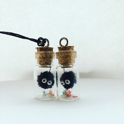 Studio Ghibli Spirited Away Soot Sprite/dust Bunny In A Bottle Necklace Totoro