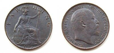 Edward Vii 1902-1910 Full Set Of Bronze Farthings - Some Very High Grades