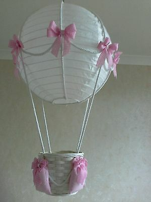 Add your own toy Hot Air Balloon Light Shade   Made to order
