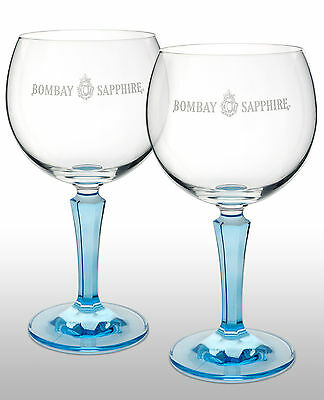 Bombay Sapphire Gin Balloon Glass X 2 New