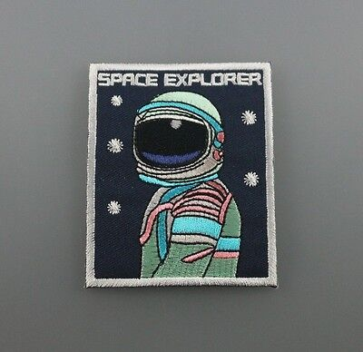 NASA SPACE explorer ASTRONAUTS Embroidered Patch Iron Sew LOGO HARDCORE  2