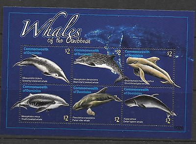 Dominica Sgms3713 2010 Whales  Mnh