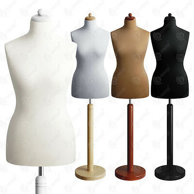 SIZE 12-14 FEMALE Mannequin Tailors Bust Dressmakers Dummy Torso Round Base S2
