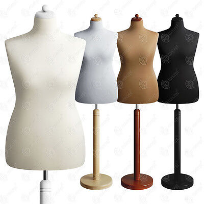 SIZE 16-18 FEMALE Mannequin Tailors Bust Dressmakers Dummy Torso Round Base S2
