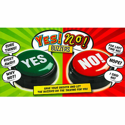 Yes and No Sounds Phrases Buzzers Office Home Fun Novelty Gift