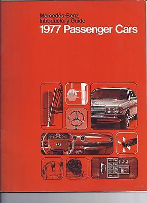 1977 Mercedes-Benz Introductory Guide Passenger Cars Brochure