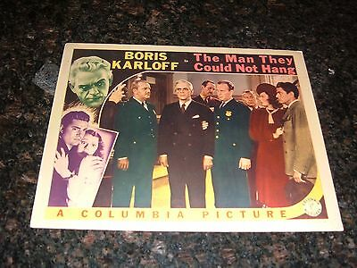 """THE MAN THEY COULD NOT HANG Original 1939 Lobby Card, 11"""" x 14"""", C8 Very Fine"""