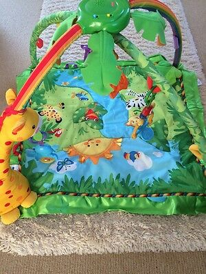 Baby Play Mat Jungle Gym Fisher Price With Toys Lights Music
