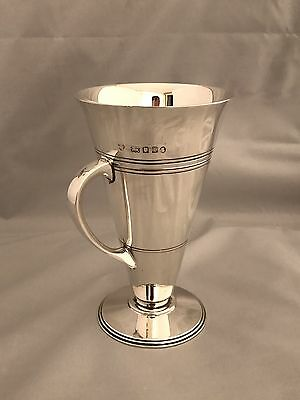 Solid Silver Art Deco Cup 1934 London Goldsmiths & Silversmiths Tall & Heavy