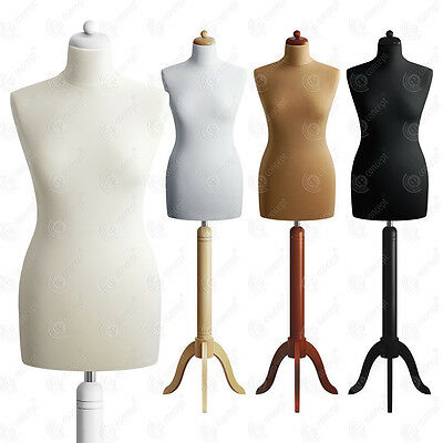 SIZE 8 FEMALE Mannequin Bust Tailors Dressmakers Dummy Fashion Torso S01