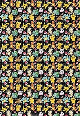 4m x 69cm X2 Roll Pokemon Gift Wrap Wrapping Paper