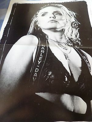 DEBBIE HARRY DOUBLE PAGE glossy POSTER FROM 1990 A2 SIZE-STONE ROSES ON REVERSE