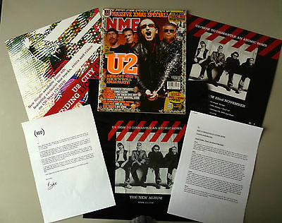 U2  How to Dismantle an Atomic Bomb RARE PROMO MATERIAL - VARIOUS ITEMS