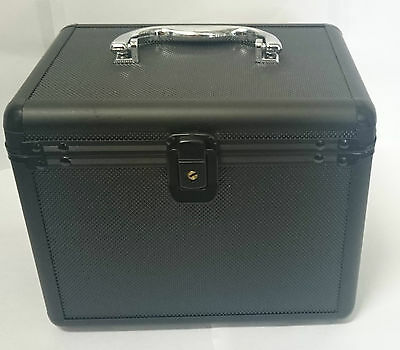 120 Aluminium DJ box  CD box dvd Disc Storage Flight Carry Case Black jewellery