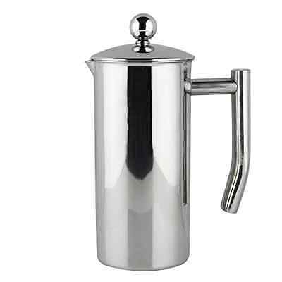 Francois et Mimi Single-Wall French Coffee Press, 12-Ounce, Stainless Steel
