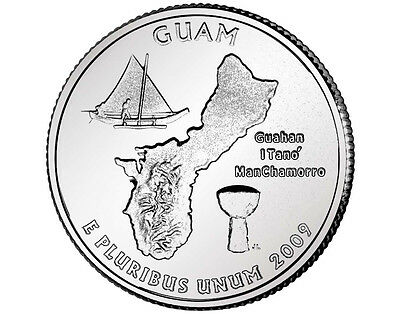 2009-D Guam U.s Statehood And Territories Quarter Uncirculated!!